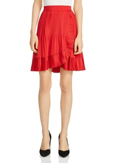 Maje Jonetta Ruffle-Trim Skirt