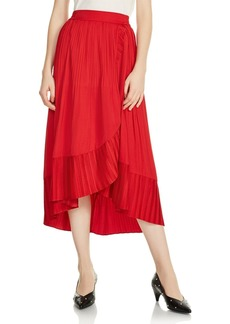 Maje Jonette Ruffle-Trim Long Skirt