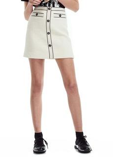 maje Joppy Cotton Tweed Miniskirt