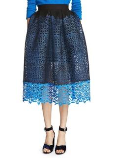 Maje Journee Cutwork Midi Skirt