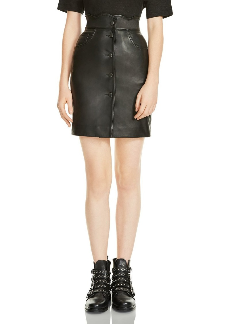 Maje Journey Leather Skirt