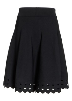 maje June Cutout Hem Skirt