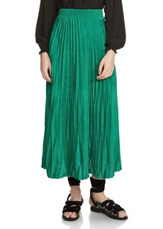 Maje Jupette Pleated Maxi Skirt
