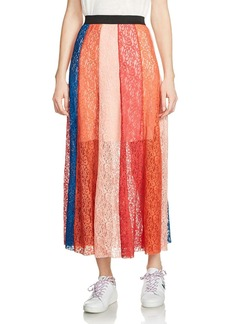Maje Jupiter Lace Midi Skirt