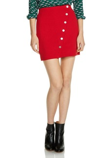 Maje Justine Snap-Button Mini Skirt
