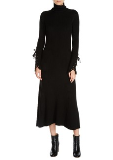 maje Knit Midi Dress