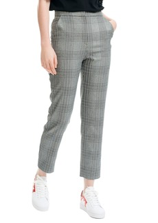 maje Lino Check Crop Pants