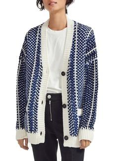 maje Malou Wool Blend Chunky Knit Cardigan