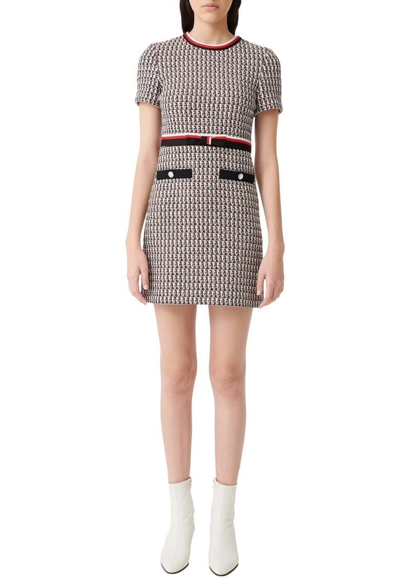 maje Metallic Tweed Dress