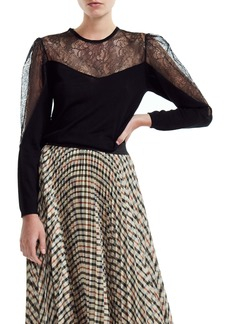 maje Miniti Long Sleeve Fit & Flare Dress
