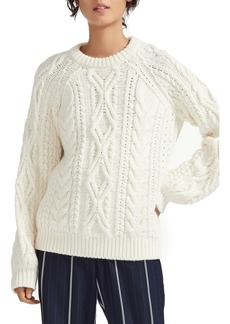 maje Mitaine Cable Sweater