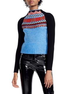 maje Mixed Knit Sweater