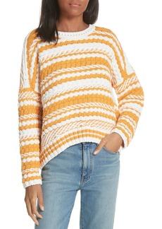 maje Modeste Chunky Stripe Sweater