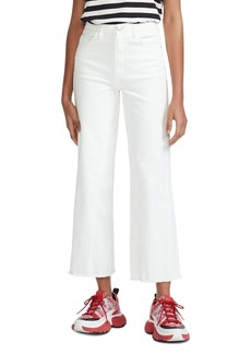 Maje Pamier High Rise Ankle Jeans in White