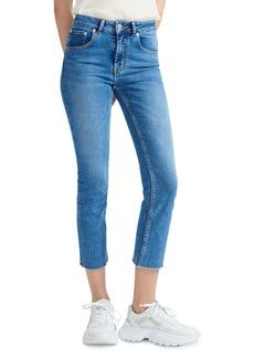 Maje Pannableu Cropped Slim-Leg Jeans