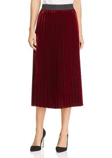 Maje Pleated Velvet Skirt - 100% Exclusive