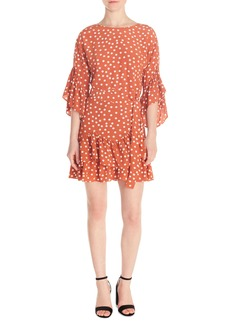 maje Polka Dot Flounce Dress (Nordstrom Exclusive)