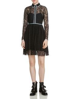 Maje Rabilo Pleated Lace Dress