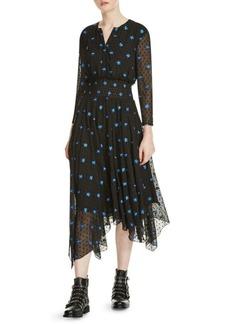 Maje Raiette Floral Embroidered Dress