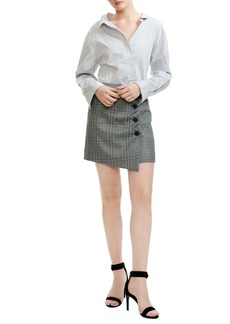 maje Raime Stripe & Plaid Dress