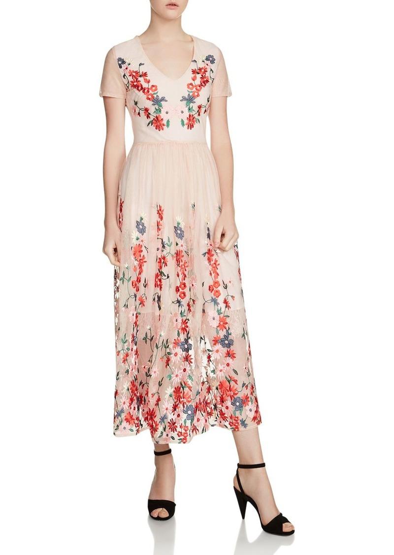 ef1318aff8 SALE! Maje Maje Raphael Embroidered Tulle Midi Dress