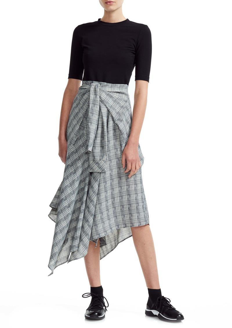 maje Rapri Mixed Media Asymmetrical Dress