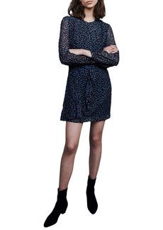 maje Revano Long Sleeve Minidress