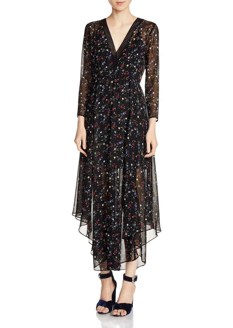 Maje Riane Printed Chiffon Dress
