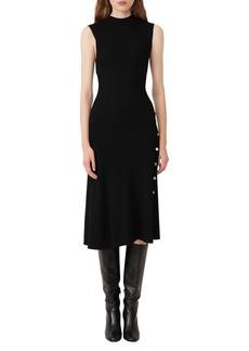 maje Ribbed Sleeveless Dress