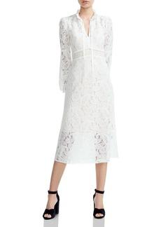 Maje Rilie Paisley Lace Midi Dress