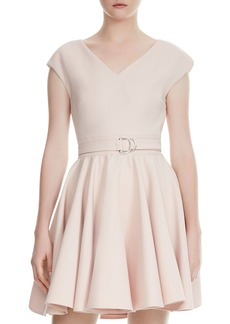 Maje Rimae Belted Cr�pe Dress
