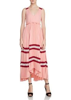 Maje Ritello Pleated Maxi Dress
