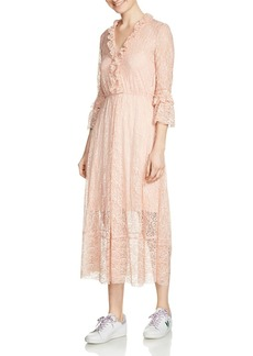 Maje Romancia Lace Midi Dress
