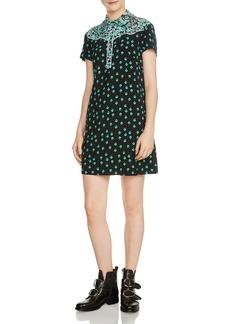 Maje Romani Mixed Floral-Print Mini Dress