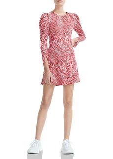 Maje Romie Animal-Print Mini Dress