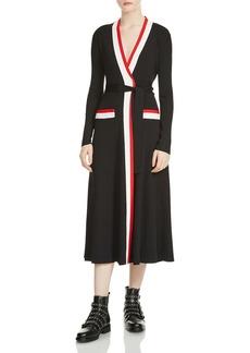 Maje Rosiana Midi Wrap Dress
