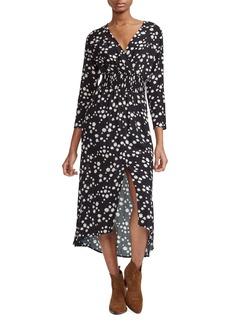 maje Rosila Floral Print Midi Dress