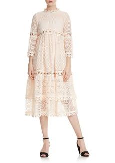 Maje Roso Grommet Lace Dress