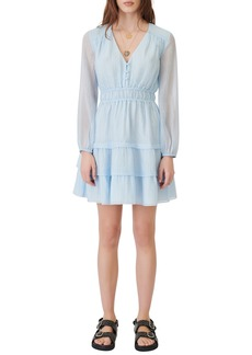 maje Roubelia Stripe Jacquard Long Sleeve Dress