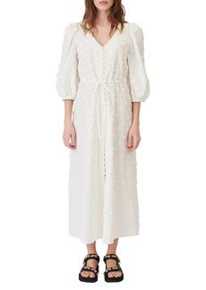 maje Roxitane Floral Appliqué Cotton Dress