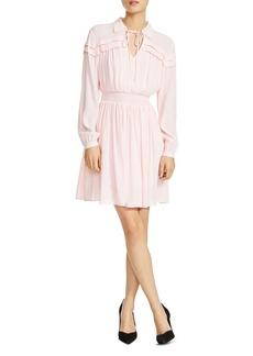Maje Rubin Smocked Blouson Dress