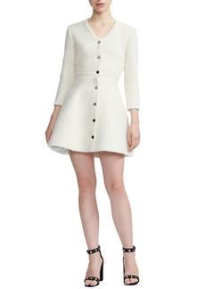 maje Ryzer Tweed Skater Dress