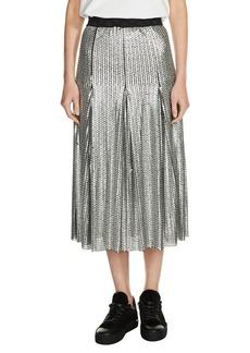 maje Sequin Midi Skirt