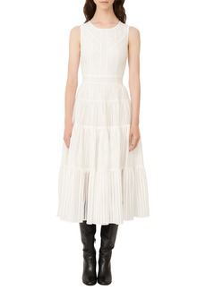 maje Sleeveless A-Line Midi Dress