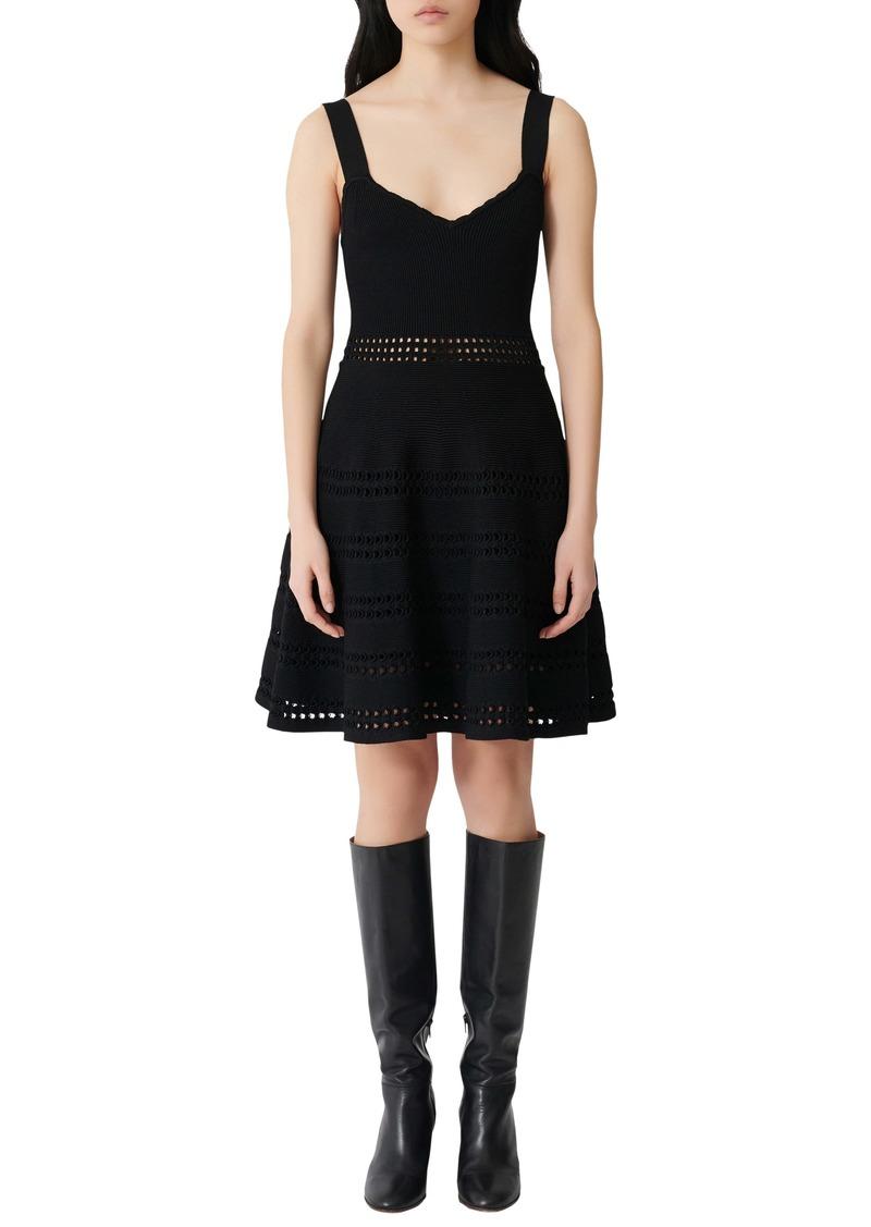 maje Sleeveless Knit A-Line Dress