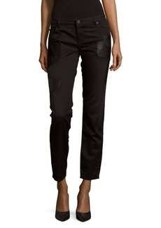 Maje Straight-Leg Solid Jeans