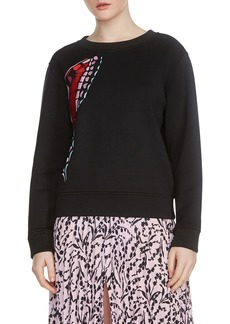 maje Theophile Embroidered Sweatshirt
