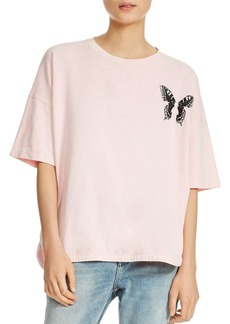 Maje Turner Butterfly Embroidered Tee