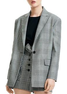 Maje Vaime Plaid Single-Button Blazer