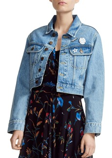 bec78961f Maje Vavini Cropped Denim Jacket
